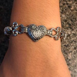 Lia Sophia Silver Tone Heart Bracelet